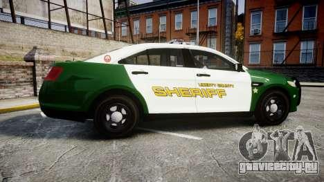 Ford Taurus 2014 Liberty City Sheriff [ELS] для GTA 4 вид слева