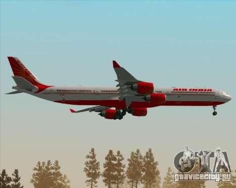 Airbus A340-600 Air India для GTA San Andreas вид сверху
