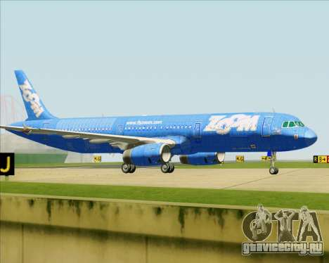 Airbus A321-200 Zoom Airlines для GTA San Andreas колёса