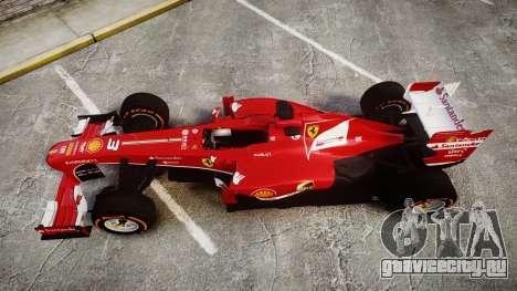 Ferrari F138 v2.0 [RIV] Alonso THD для GTA 4 вид справа