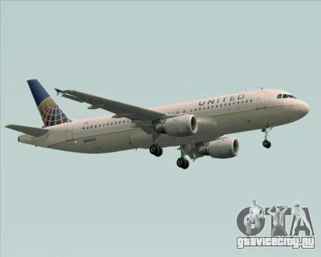 Airbus A320-232 United Airlines для GTA San Andreas вид слева