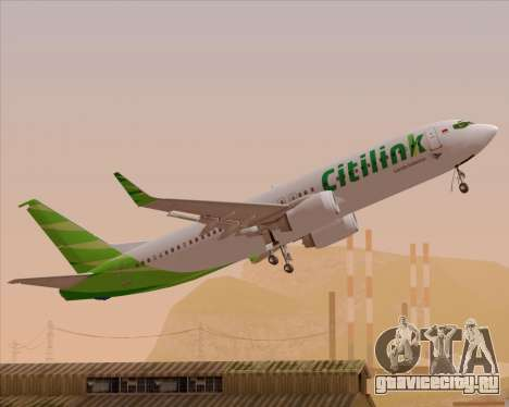 Boeing 737-800 Citilink для GTA San Andreas двигатель