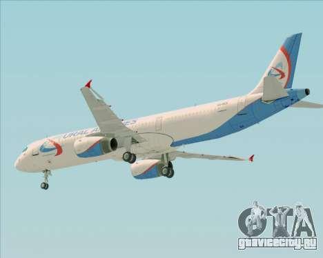 Airbus A321-200 Ural Airlines для GTA San Andreas двигатель