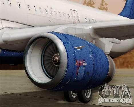 Airbus A321-200 Delta Air Lines для GTA San Andreas вид снизу