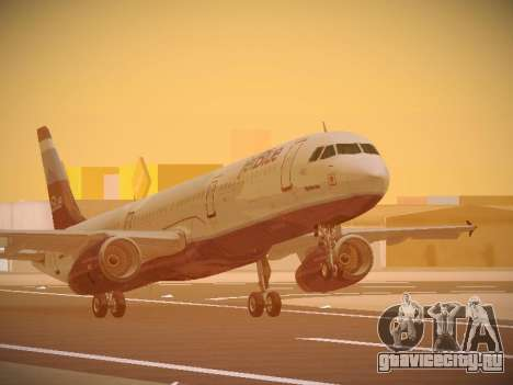 Airbus A321-232 Big Blue Bus для GTA San Andreas