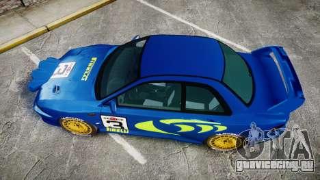 Subaru Impreza WRC 1998 Rally v2.0 Green для GTA 4 вид справа