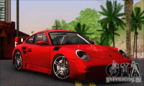Porsche 997 Turbo Tunable для GTA San Andreas вид справа