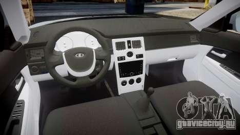 ВАЗ-2170 Приора на дисках для GTA 4 вид сзади