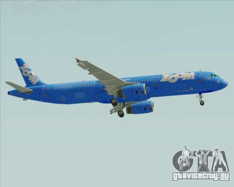 Airbus A321-200 Zoom Airlines для GTA San Andreas вид сбоку