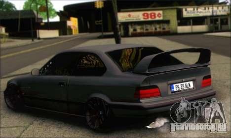 BMW E36 Stanced для GTA San Andreas вид слева