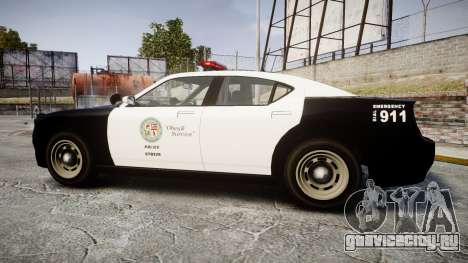GTA V Bravado Buffalo LS Police [ELS] для GTA 4 вид слева