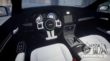 Chrysler 300 SRT8 2012 PJ SRT8 для GTA 4 вид изнутри