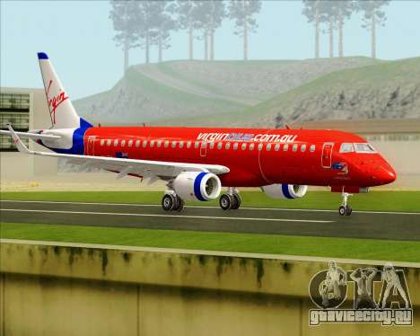 Embraer E-190 Virgin Blue для GTA San Andreas вид справа
