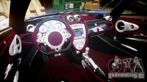 Pagani Huayra 2013 [RIV] для GTA 4 вид изнутри