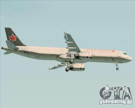 Airbus A321-200 Air Canada для GTA San Andreas вид сзади слева