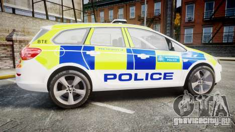 Vauxhall Astra Estate Metropolitan Police [ELS] для GTA 4 вид слева
