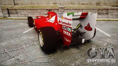 Ferrari 150 Italia Track Testing для GTA 4 вид сзади слева