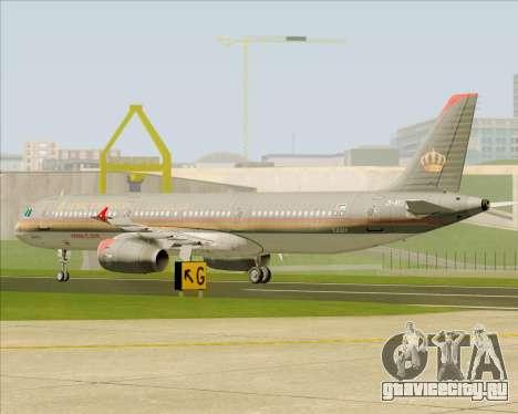 Airbus A321-200 Royal Jordanian Airlines для GTA San Andreas вид сбоку
