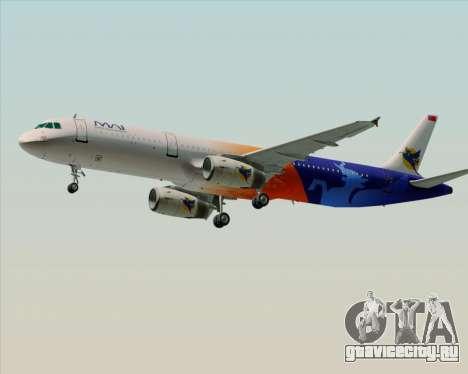 Airbus A321-200 Myanmar Airways International для GTA San Andreas вид изнутри