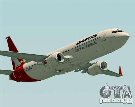 Boeing 737-838 Qantas (Old Colors) для GTA San Andreas двигатель