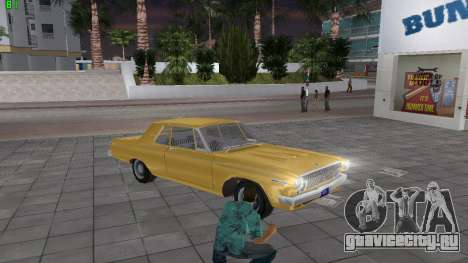 Dodge 330 Max Wedge Ramcharger 1963 для GTA Vice City вид справа