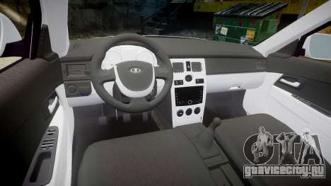 ВАЗ-2170 AMG выхлоп для GTA 4 вид изнутри