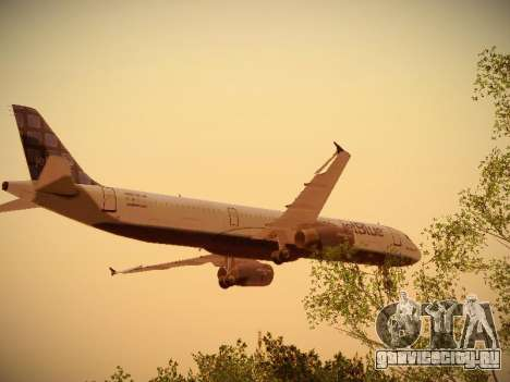 Airbus A321-232 jetBlue Blue Kid in the Town для GTA San Andreas салон