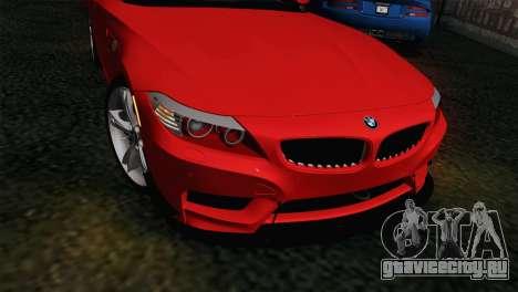 BMW Z4 sDrive28i 2012 Racing для GTA San Andreas вид справа