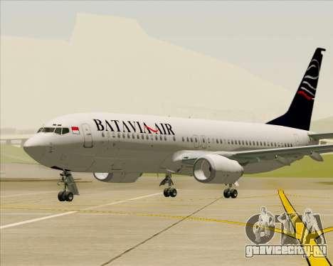 Boeing 737-800 Batavia Air для GTA San Andreas салон