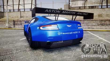 Aston Martin Vantage GTE Nico Yazawa для GTA 4 вид сзади слева