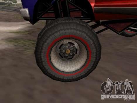 Новые текстуры Monster для GTA San Andreas для GTA San Andreas вид сзади слева