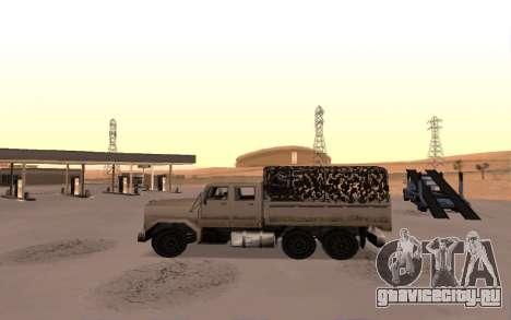 Barracks с четырьмя дверьми для GTA San Andreas вид слева