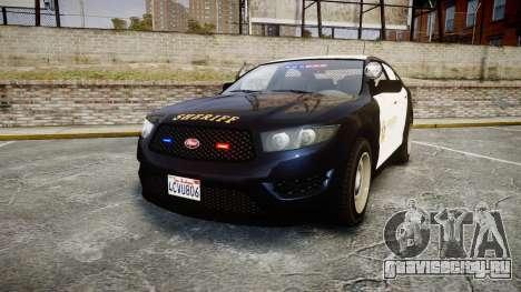 GTA V Vapid Interceptor LSS Black [ELS] Slicktop для GTA 4