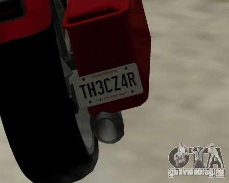 Bagger для GTA San Andreas вид сзади слева