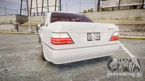 Mercedes-Benz E500 1998 Tuned Wheel White для GTA 4 вид сзади слева