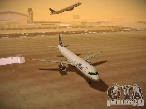 Airbus A321-232 jetBlue Blue Kid in the Town для GTA San Andreas вид сзади