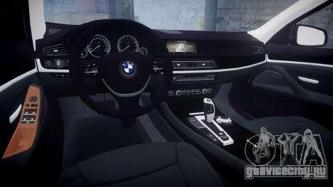 BMW 530d F11 для GTA 4 вид изнутри