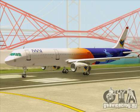 Airbus A321-200 Myanmar Airways International для GTA San Andreas вид слева