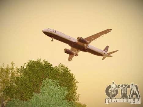Airbus A321-232 jetBlue Woo-Hoo jetBlue для GTA San Andreas салон