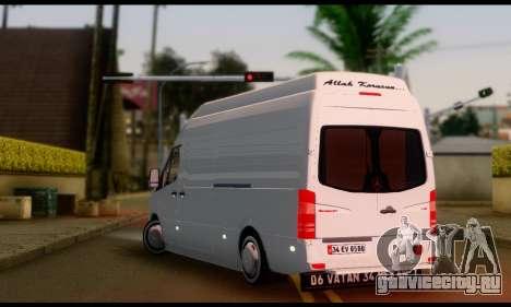 Mercedes-Benz Sprinter Panelvan для GTA San Andreas вид слева
