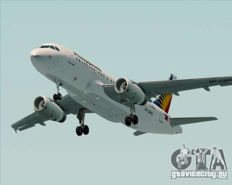 Airbus A319-112 Philippine Airlines для GTA San Andreas салон