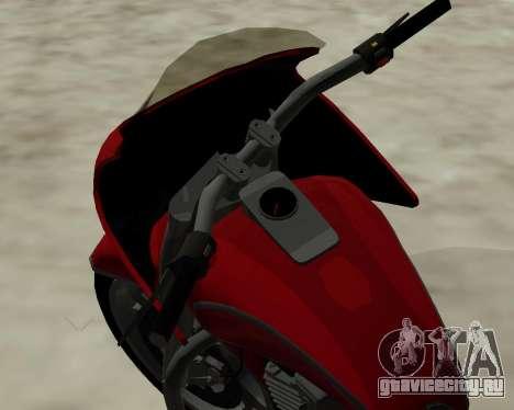 Bagger для GTA San Andreas вид изнутри
