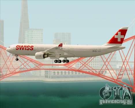 Airbus A330-300X Swiss International Air Lines для GTA San Andreas колёса