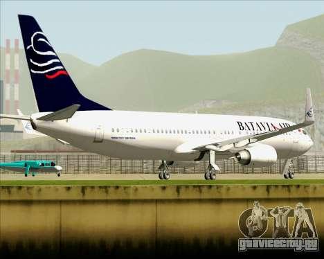 Boeing 737-800 Batavia Air для GTA San Andreas вид сверху