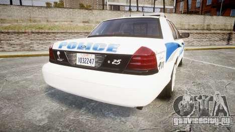 Ford Crown Victoria PS Police [ELS] для GTA 4 вид сзади слева