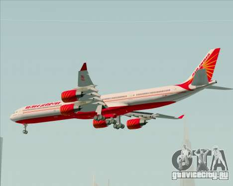 Airbus A340-600 Air India для GTA San Andreas вид изнутри