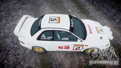 Subaru Impreza WRC 1998 SA Competio v3.0 для GTA 4 вид справа
