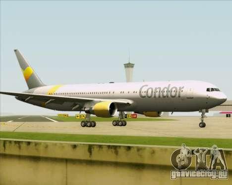 Boeing 767-330ER Condor для GTA San Andreas вид изнутри