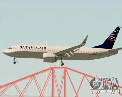 Boeing 737-800 Batavia Air для GTA San Andreas вид справа