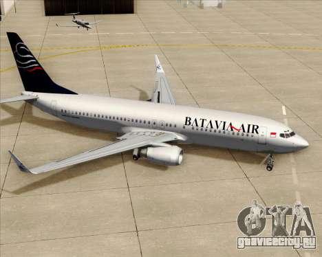 Boeing 737-800 Batavia Air для GTA San Andreas колёса
